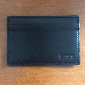 Brand new coach men's thin one layer wallet